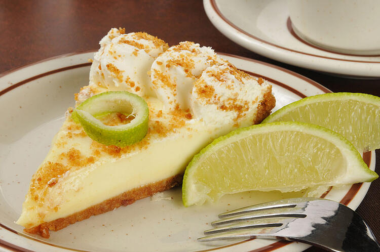 Key Lime Pie made with condensed milk